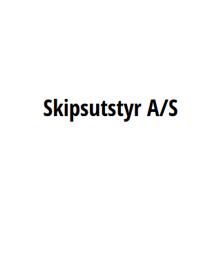 SKIPSUTSTYR A/S